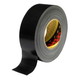 3M™ 389 Textilhordozós ragasztószalag, fekete, 25 mm x 50 m, 7000111459