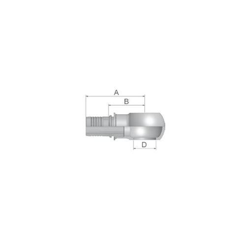 Parker Tömlővég belső 16szem(9,5), K4947-16-6