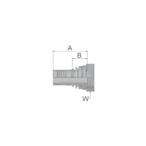 Parker Tömlővég belső 1/2x14(12,7)H, K9247-8-8