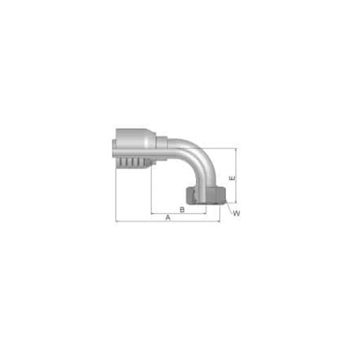 Parker Tömlővég M26x1,5x90(15,9)H 4SP, 1CF70-18-10