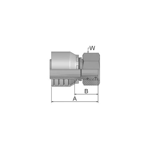 Parker Tömlővég M52x2(38,1)H, 1CA48-42-24