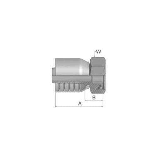 Parker Tömlővég M26x1,5(15,9)H 4SP, 1CA70-18-10
