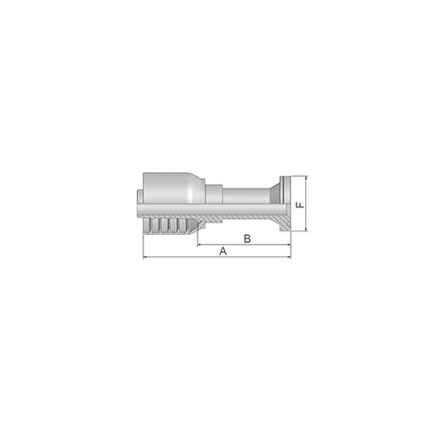 Parker Tömlővég F47,6(25,4) S 4SH, 16A73-16-16-1P