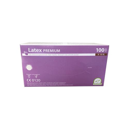 Latex premium egyszer használatos gumikesztyű XL, 1 doboz/100 db