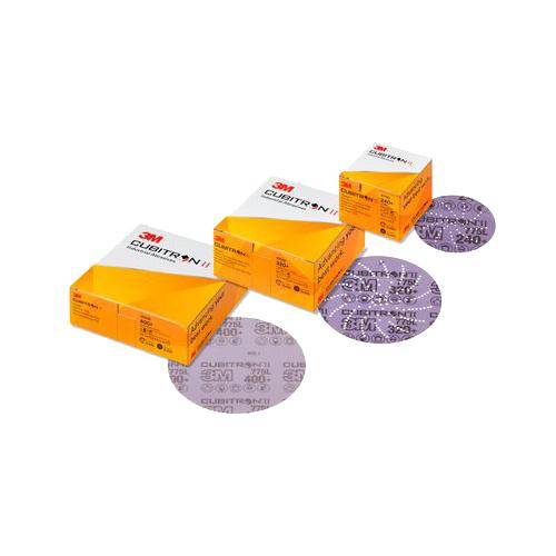 3M™ Cubitron™ II Hookit™ 775L tépőzáras filmhordozós csiszolótárcsa, teli, 125 mm, 120+, 7100046326