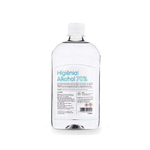 Higiéniai alkohol 70% biocid aktív hatóanyaggal, 0,5 L