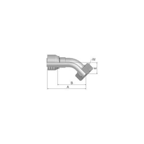 Parker Tömlővég M36x2x45(25,4)H, 1CE48-28-16
