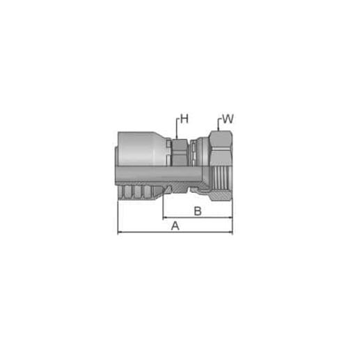 Parker Tömlővég JIC1/2x20(7,9)H, 16846-5-5
