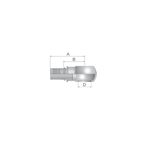 Parker Tömlővég belső 14szem(6,3), K4947-14-4