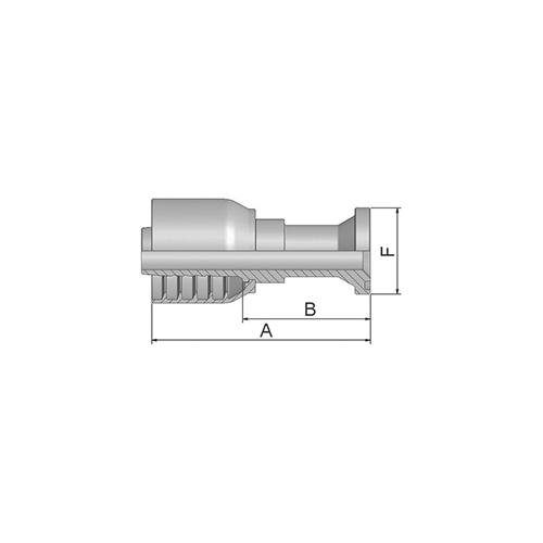 Parker Tömlővég F44,5(25,4) 4SP, 11570-16-16-1P
