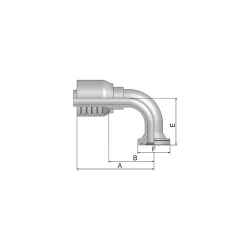 Parker Tömlővég F47,6x90 (19,1)S 4SP, 16N70-16-12-1P