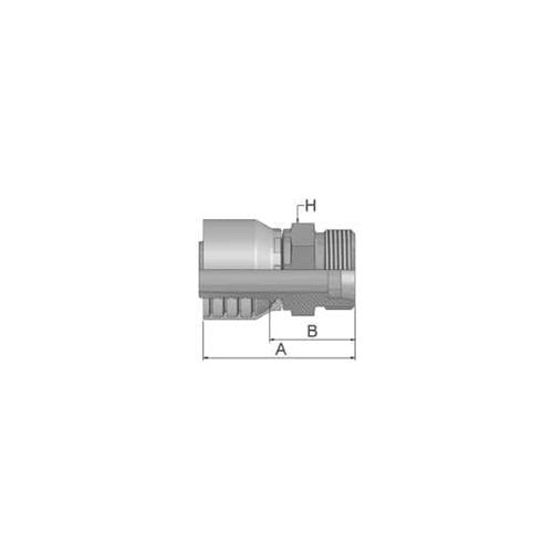 """Parker Tömlővég M16x1,5(7,9)K  DN 8 (5/16""""), 1D046-10-5"""
