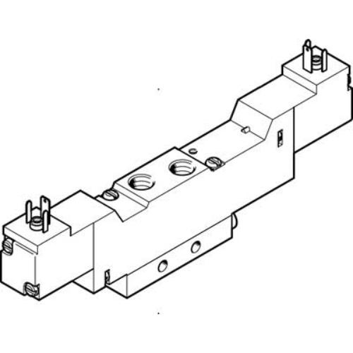 FESTO  MEBH-5/3E-1/8-B-230AC mágnesszelep, 173091