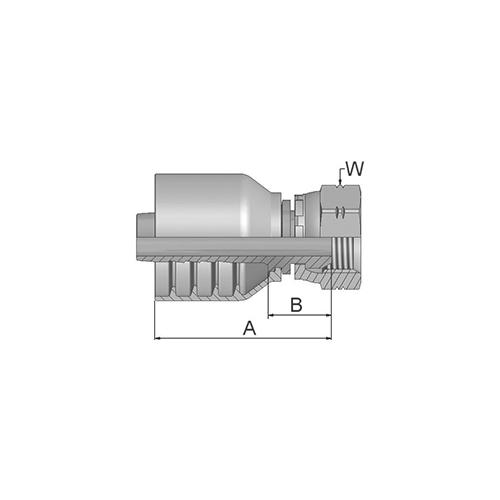 Parker Tömlővég 3/8x19(9,5)H, 19243-6-6