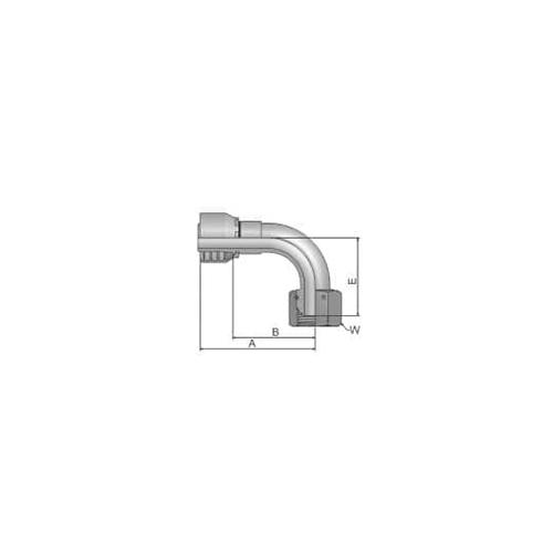 Parker Tömlővég O-gyűrűvel 3/8x19(9,5)Hx90°, 1EC46- 6- 6
