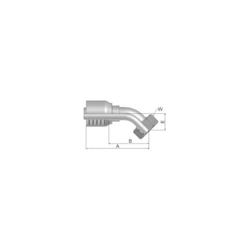 Parker Tömlővég M36x2(25-S)x45°, 10C70-25-12