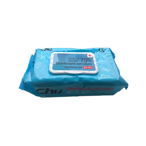 CHU alkoholos fertőtlenítő törlőkendő, 40 kendő/csomag
