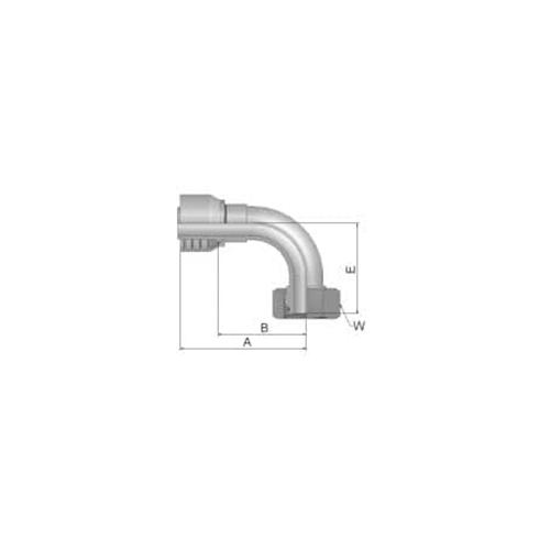 Parker Tömlővég M12x1,5x90(6,3)H, 1CF43- 6- 4