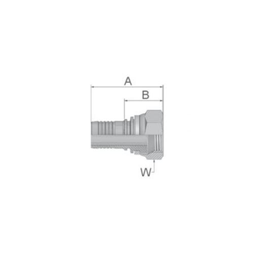 Parker Tömlővég belső M24x1,5(12,7)H S, KC947-16-8