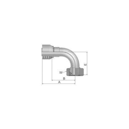 Parker Tömlővég M30x2x90(15,9)HS, 11C48-20-10