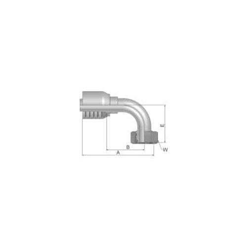 Parker Tömlővég M42x2x90°H 4SP, 11C70-30-16