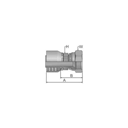 Parker Tömlővég JIC1-5/16x12(25,4)H, 10648-16-16